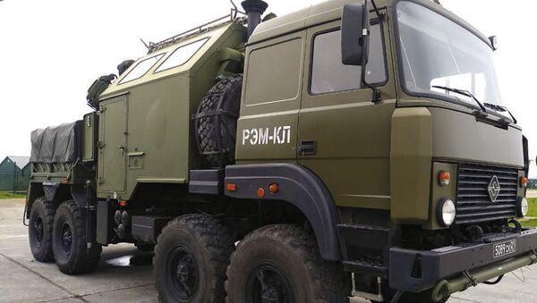Военнослужащие авторемонтного подразделения ЮВО в Абхазии впервые на учении использовали новейшие машины РЭМ-КЛ - Sputnik Аҧсны