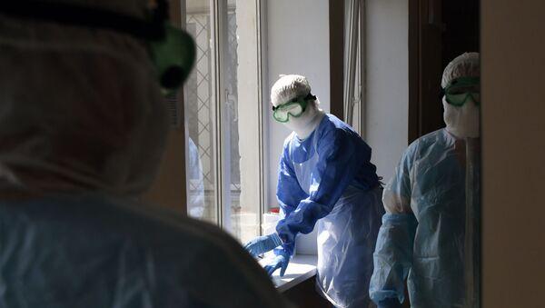 Госпиталь для лечения больных коронавирусом  - Sputnik Аҧсны