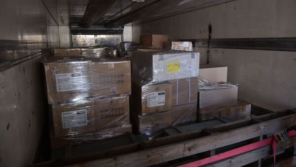 В Сухум доставлена большая партия гуманитарной медицинской помощи для борьбы с COVID -19  - Sputnik Аҧсны