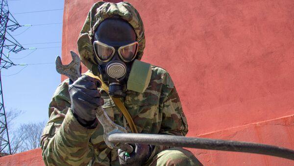 Дезинфекция завода Победит оборонно-промышленного комплекса - Sputnik Аҧсны