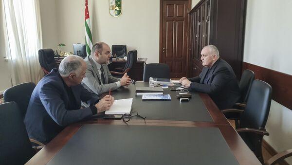Премьер-министр Республики Абхазия Александр Анкваб - Sputnik Аҧсны