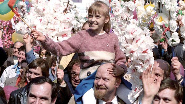 Участники демонстрации 1 Мая в Москве, 1987 год - Sputnik Абхазия