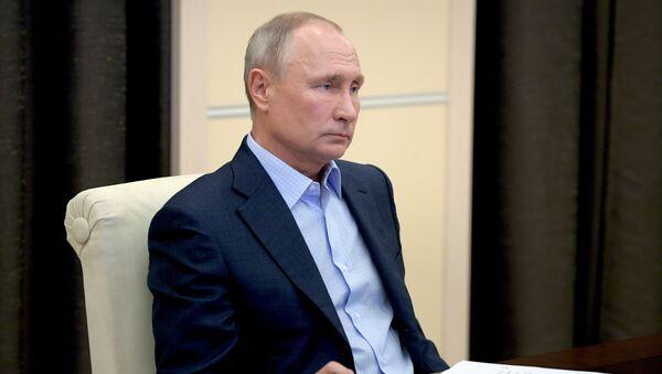 Президент РФ В. Путин провел онлайн-встречу с участниками всероссийской акции МыВместе - Sputnik Абхазия
