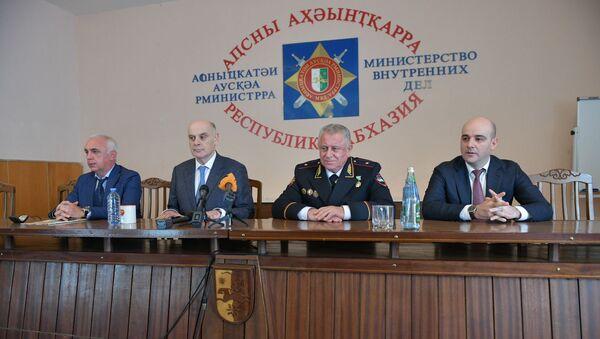 Назначение Дмитрия Дбар на должность министра внутренних дел Абхазии  - Sputnik Аҧсны