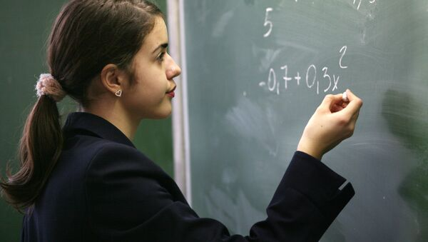 На уроке в средней общеобразовательной школе - Sputnik Абхазия