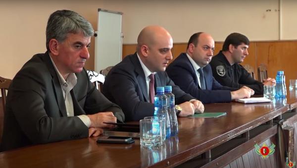 Министр ВД Дмитрий Дбар провел расширенное совещание с руководством и личным составом МВД РА. - Sputnik Аҧсны