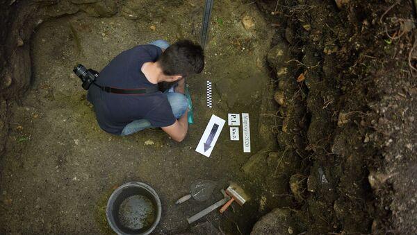 Раскопки Великой абхазской стены в селе Мерхеул - Sputnik Абхазия