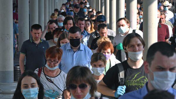 Пассажиры на платформе Ярославского вокзала в Москве - Sputnik Аҧсны