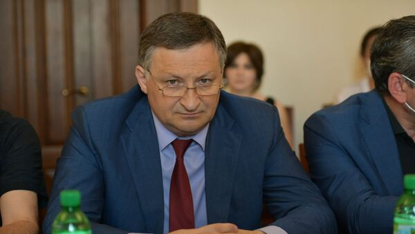 Беслан Эшба на заседание Координационного штаба по защите населения от коронавируса - Sputnik Аҧсны