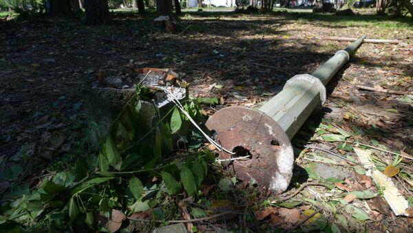 Столбы Индоевропейского телеграфа в парке Сказка - Sputnik Аҧсны