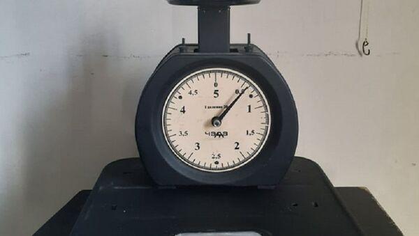 Инсталляция Робинзон подумал, Сколько весят весы? - Sputnik Аҧсны