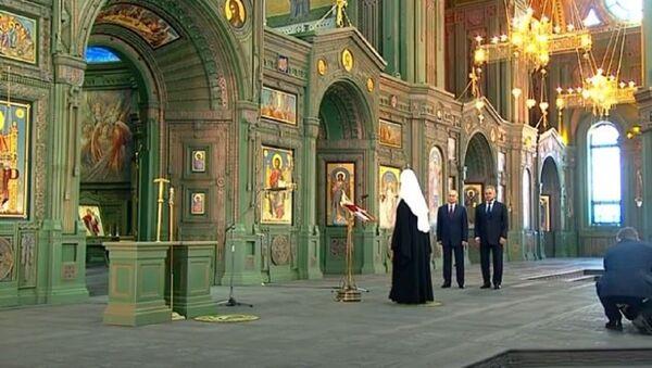 Путин посетил Главный храм Вооруженный сил России в Подмосковье - Sputnik Абхазия