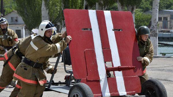 Специальное пожарно-тактическое учение  - Sputnik Абхазия