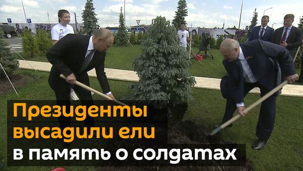 Путин с Лукашенко открыли мемориал Советскому солдату подо Ржевом - Sputnik Абхазия