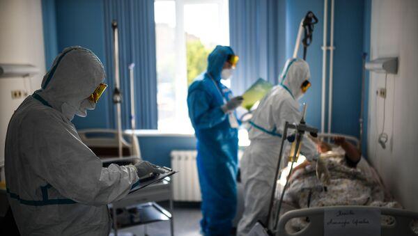 Госпиталь COVID-19 в ЦИТО им. Н. Н. Приорова - Sputnik Аҧсны
